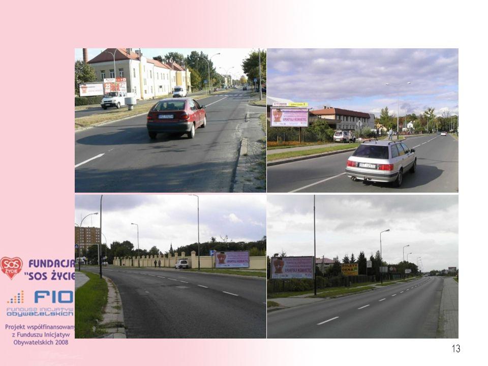 14 Lokalizacje billboardów: Mielec Tarnobrzeg Rzeszów Kolbuszowa Przemyśl