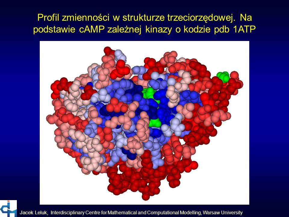 Jacek Leluk, Interdisciplinary Centre for Mathematical and Computational Modelling, Warsaw University Profil zmienności w strukturze trzeciorzędowej.
