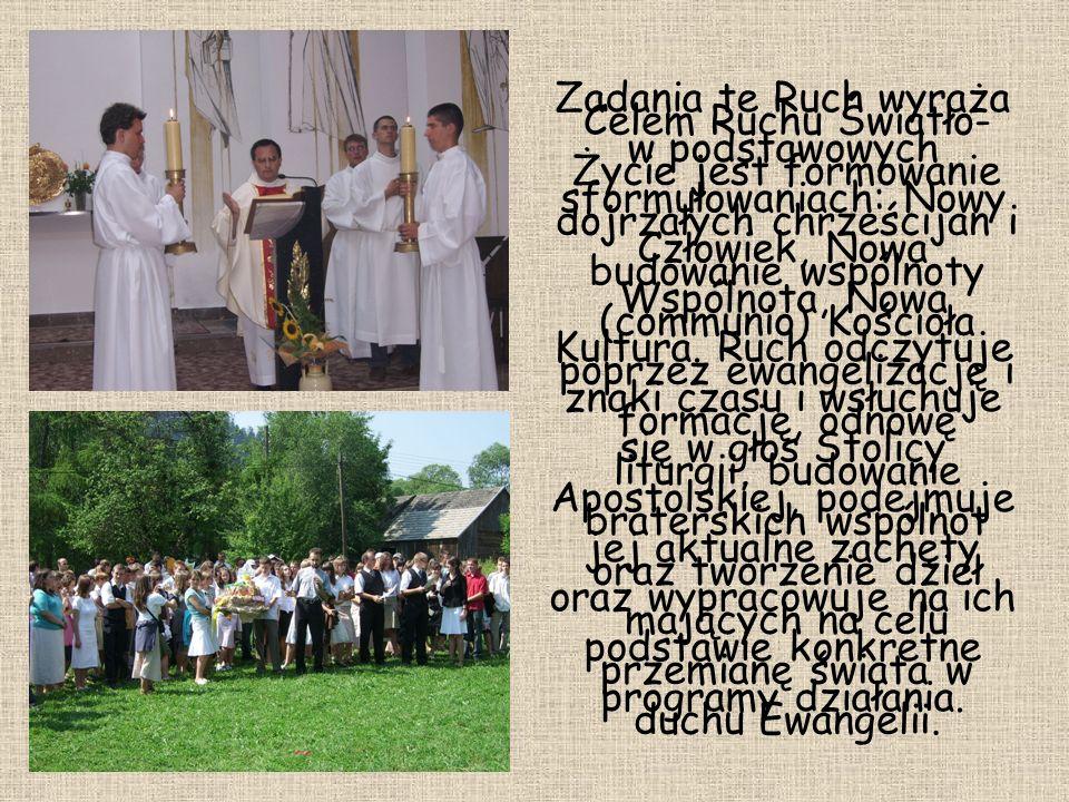 Celem Ruchu Światło- Życie jest formowanie dojrzałych chrześcijan i budowanie wspólnoty (communio) Kościoła poprzez ewangelizację i formację, odnowę l