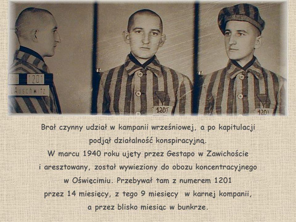 W marcu 1942 roku w więzieniu w Katowicach zostaje skazany na karę śmierci przez ścięcie za działalność konspiracyjną przeciw Rzeszy Niemieckiej.