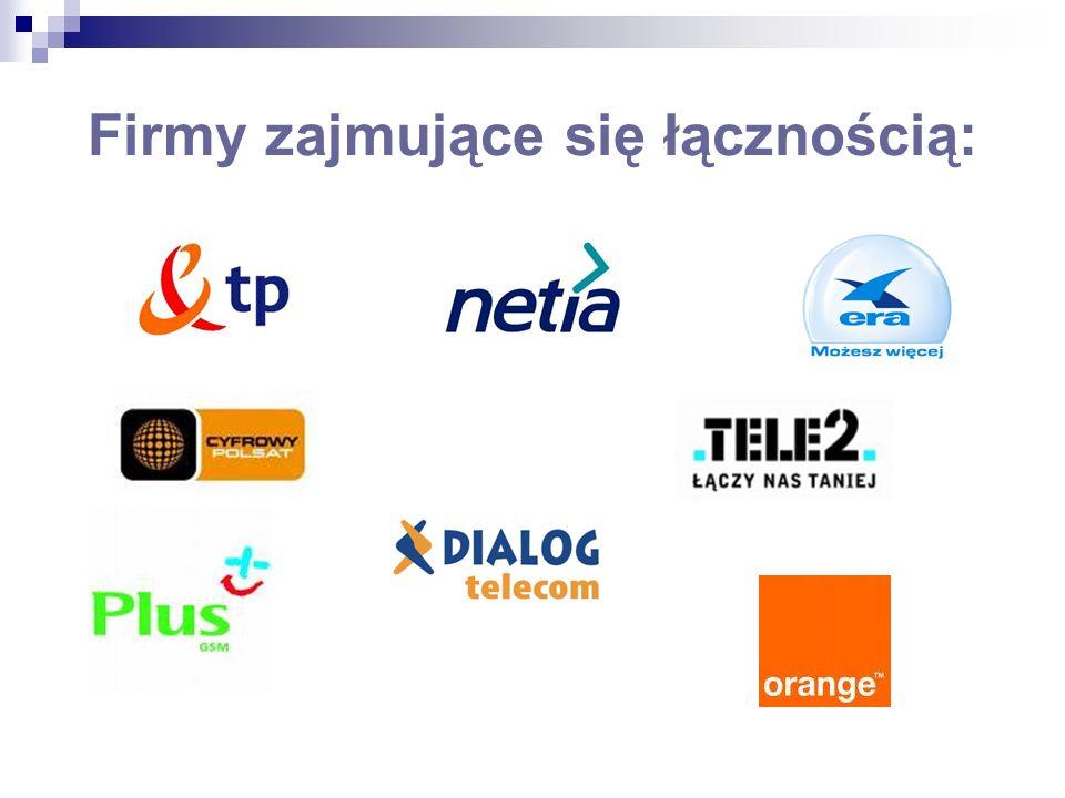 Firmy zajmujące się łącznością: