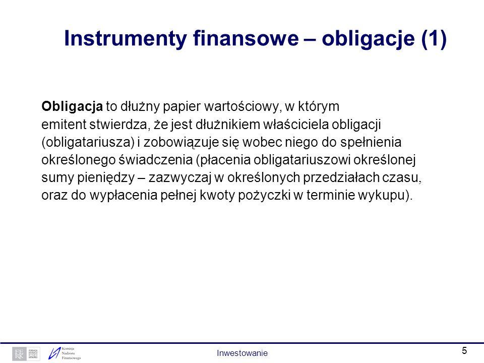 4 Instrumenty finansowe – akcje Akcja to udziałowy papier wartościowy, dokument świadczący o udziale jego właściciela w kapitale spółki akcyjnej – emi