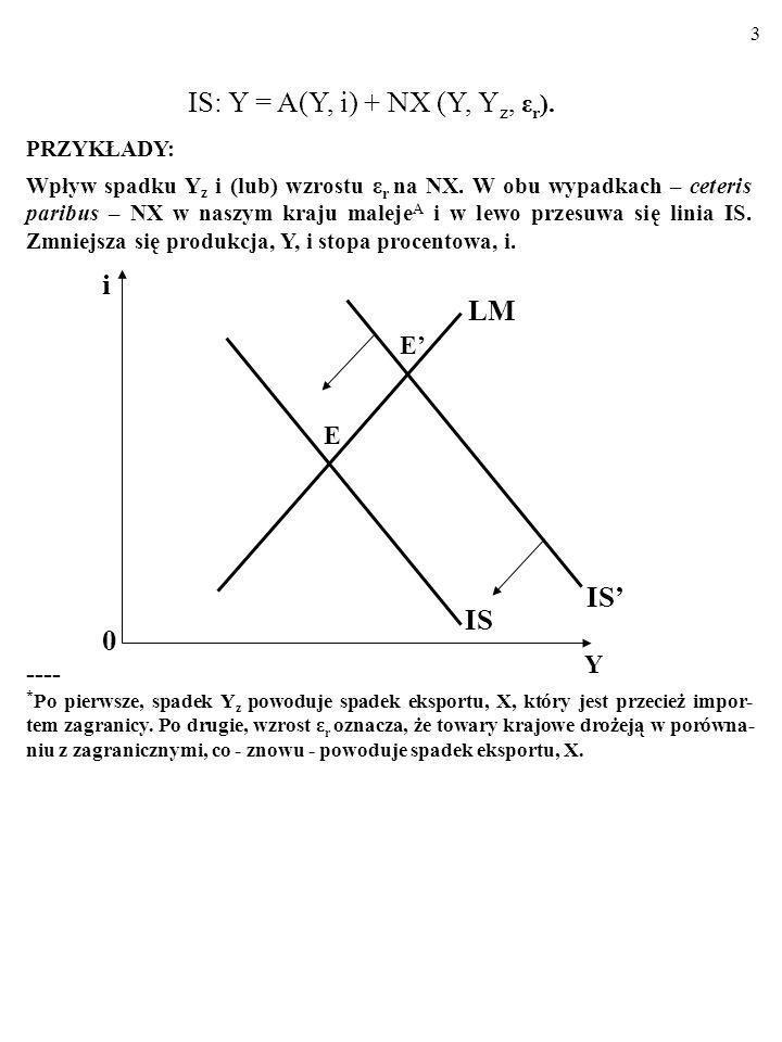 2 1.1. MODEL IS/LM W GOSPODARCE OTWARTE J: N I E- MOBILNY KAPITAŁ. Nawet jeśli kapitał nie jest mobilny, gospodarka otwarta różni się od gos- podarki