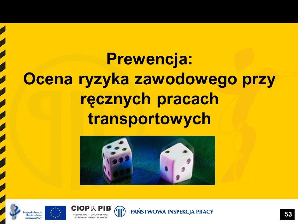 53 Prewencja: Ocena ryzyka zawodowego przy ręcznych pracach transportowych