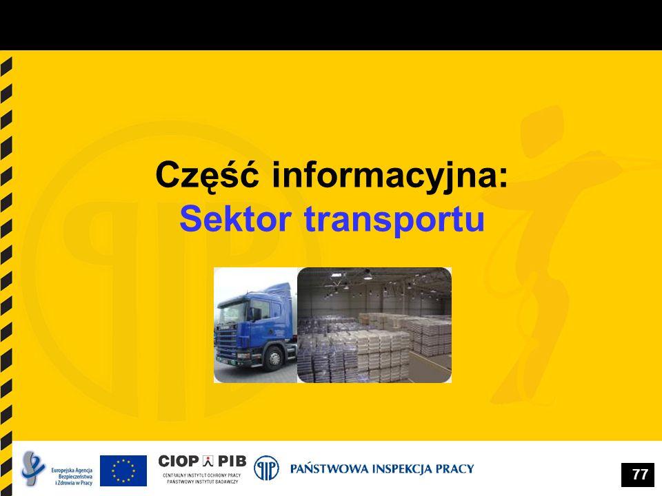 77 Część informacyjna: Sektor transportu