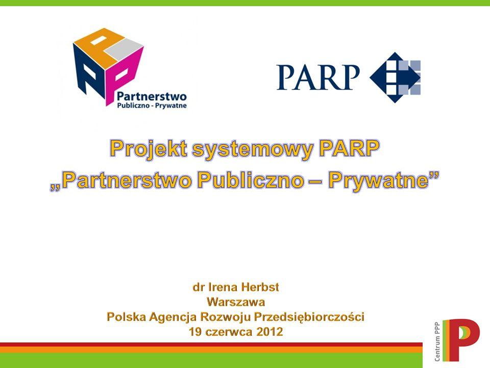 Projekt systemowy PARP Partnerstwo Publiczno-Prywatne Metodologia badania Rynek PPP w Polsce 2009 – 2011 Wyniki badania podmiotów publicznych Wyniki badania podmiotów prywatnych Wnioski z badania – studia przypadków Co należy zrobić – podsumowanie Agenda