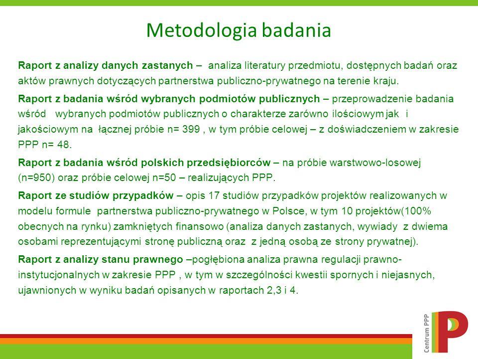 Metodologia badania Raport z analizy danych zastanych – analiza literatury przedmiotu, dostępnych badań oraz aktów prawnych dotyczących partnerstwa pu