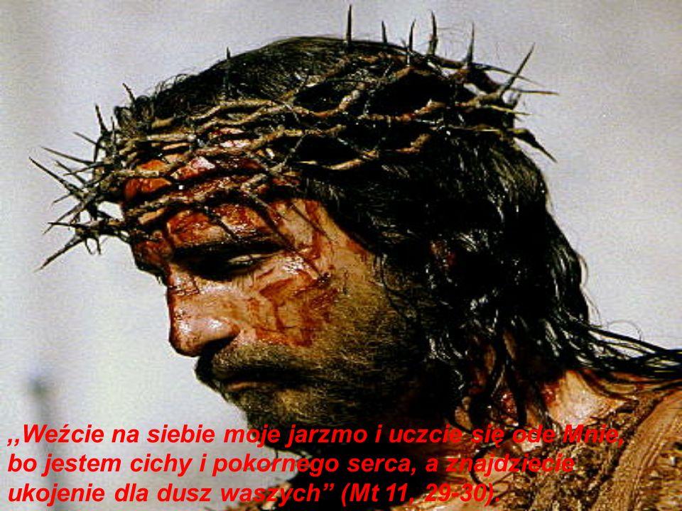 ,,Weźcie na siebie moje jarzmo i uczcie się ode Mnie, bo jestem cichy i pokornego serca, a znajdziecie ukojenie dla dusz waszych (Mt 11, 29-30).