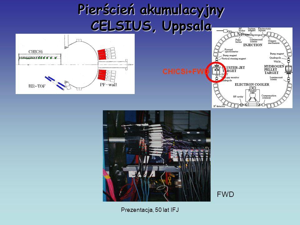 Prezentacja, 50 lat IFJ Pierścień akumulacyjny CELSIUS, Uppsala FWD CHICSi+FWD