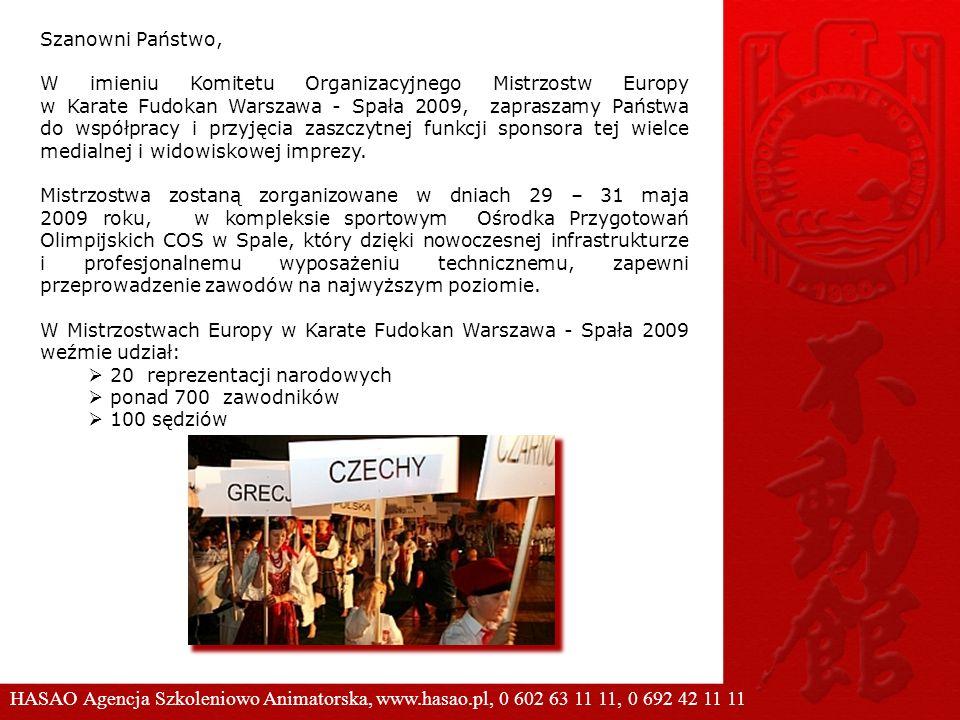 Szanowni Państwo, W imieniu Komitetu Organizacyjnego Mistrzostw Europy w Karate Fudokan Warszawa - Spała 2009, zapraszamy Państwa do współpracy i przy