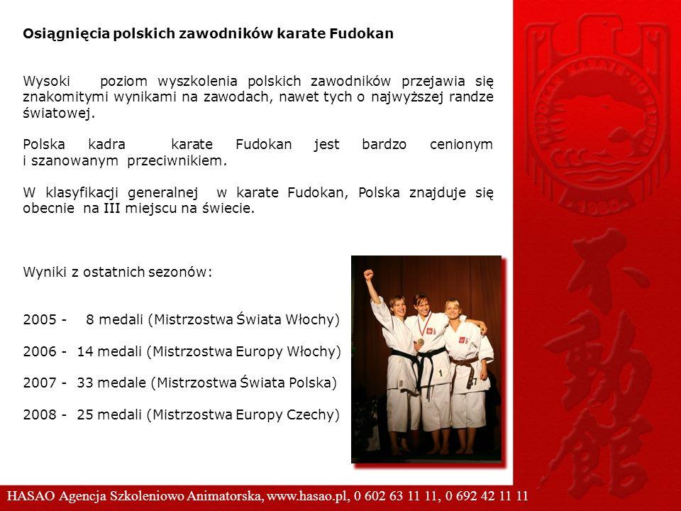 Osiągnięcia polskich zawodników karate Fudokan Wysoki poziom wyszkolenia polskich zawodników przejawia się znakomitymi wynikami na zawodach, nawet tyc