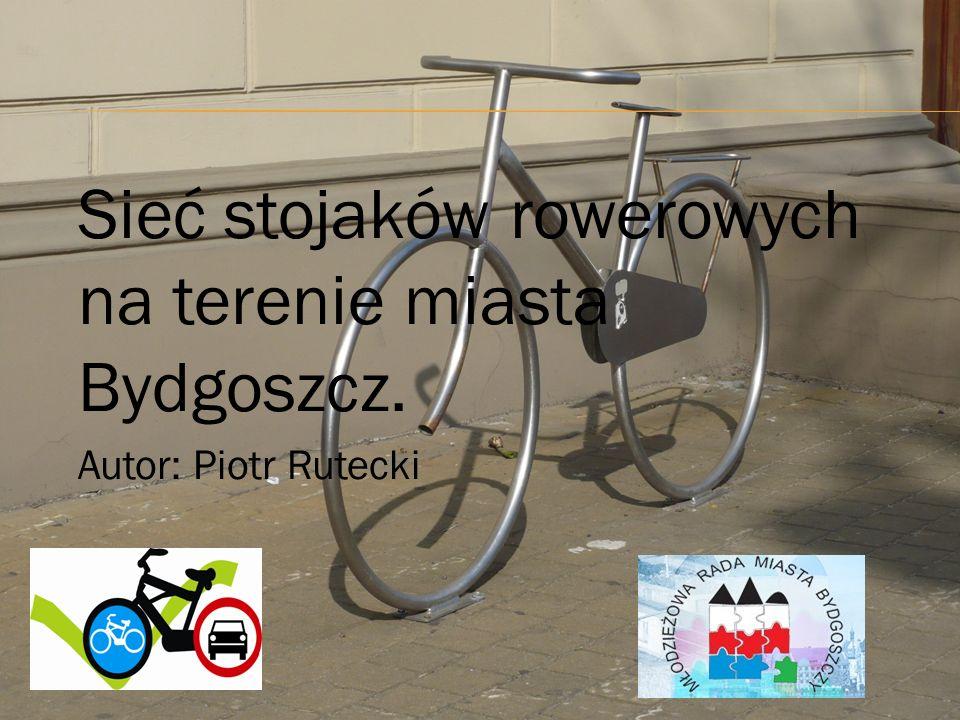 Sieć stojaków rowerowych na terenie miasta Bydgoszcz. Autor: Piotr Rutecki