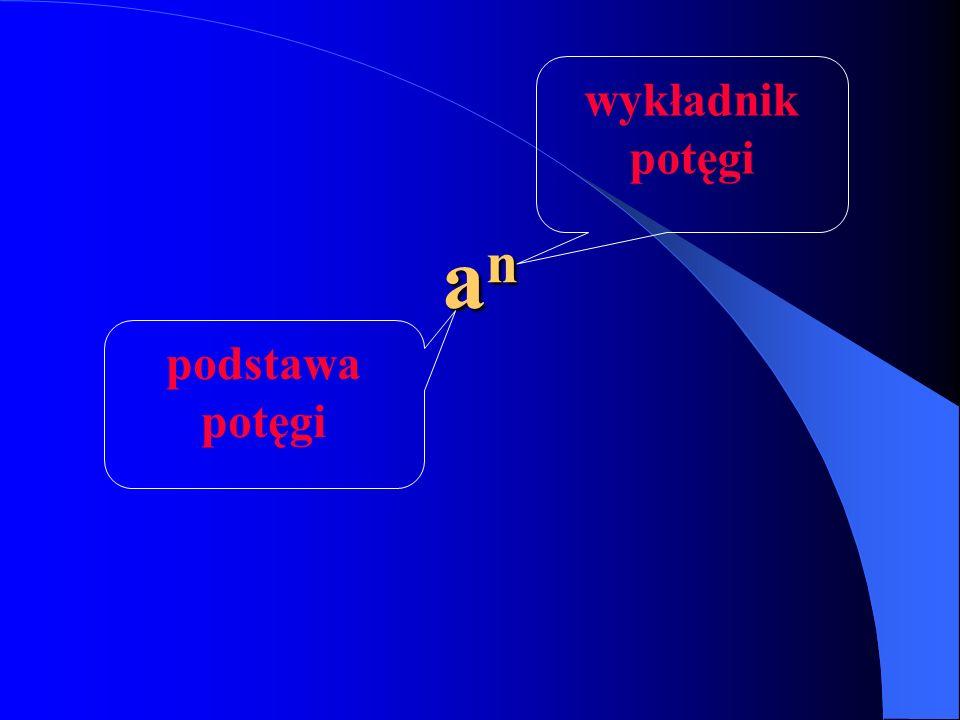 anananan podstawa potęgi wykładnik potęgi