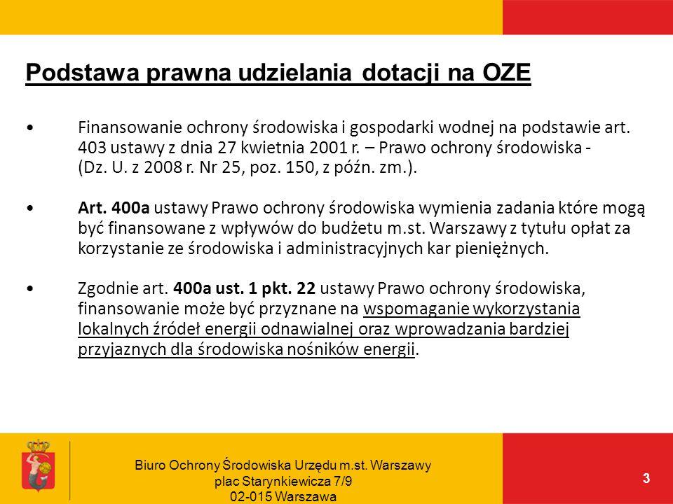 Biuro Ochrony Środowiska Urzędu m.st.