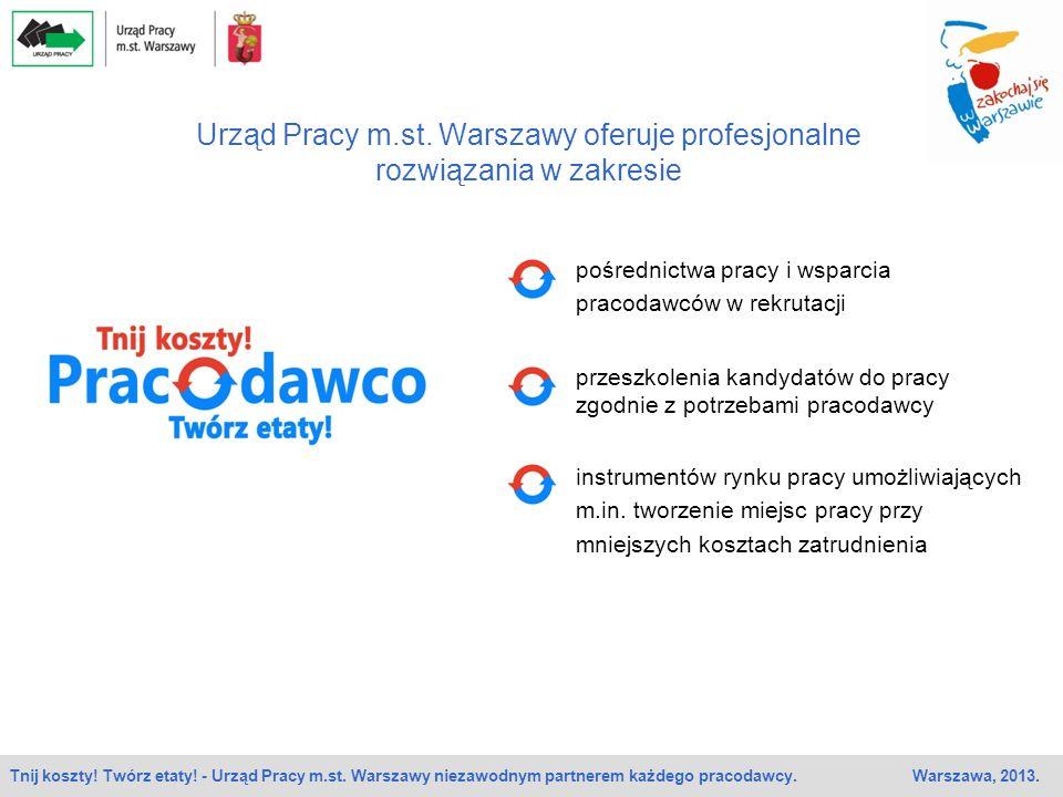 Urząd Pracy m.st. Warszawy oferuje profesjonalne rozwiązania w zakresie przeszkolenia kandydatów do pracy zgodnie z potrzebami pracodawcy instrumentów