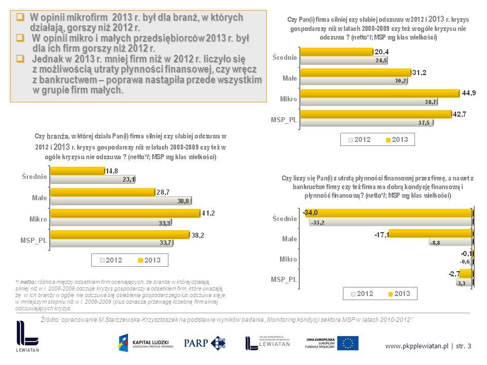 www.pkpplewiatan.pl | str. 3 W opinii mikrofirm 2013 r.