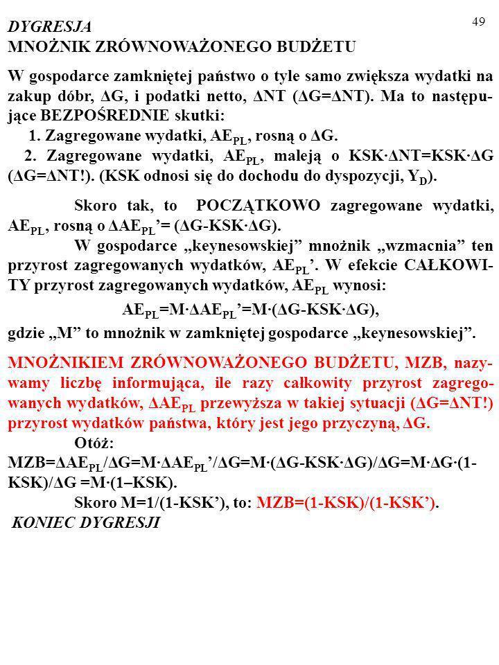 48 2. ODPOWIEDŹ NOWYCH EKONOMISTÓW KLASYCZNYCH (np. Robert Barro, który nawiązuje do Davida Ricarda): KON- SUMPCJA się nie zmienia (lub zmienia się w