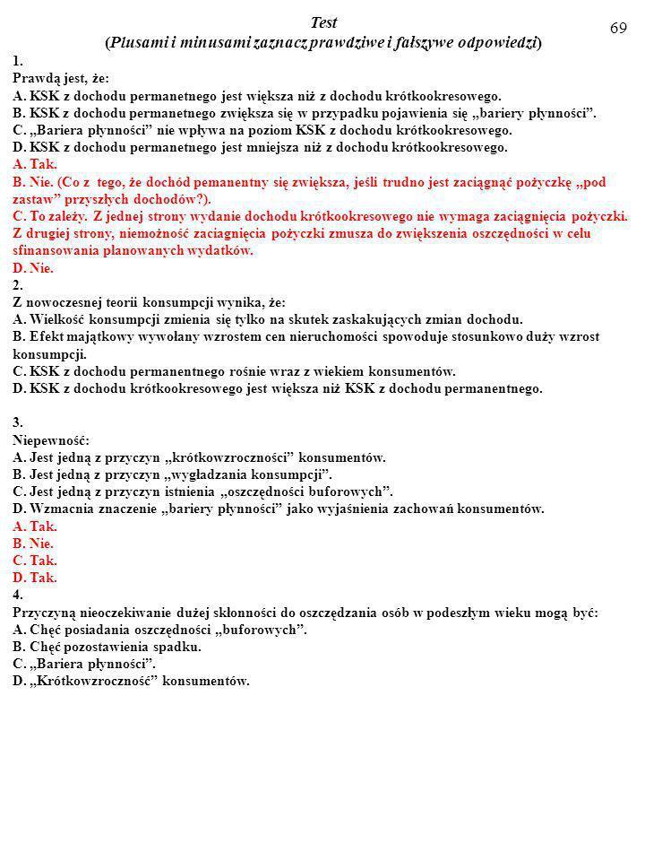 68 7. a) Podaj treść twierdzenia o mnożniku zrównoważonego budżetu. b) Podaj treść twierdzenia o ricardiańskiej równoważności. c) Opisz towarzyszące s