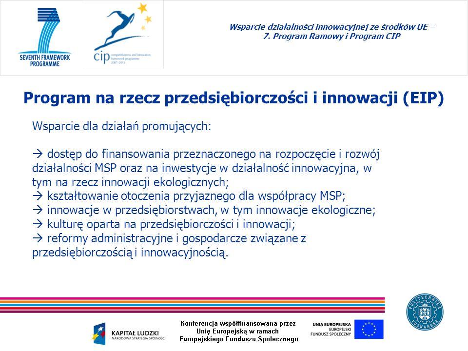 Wsparcie dla działań promujących: dostęp do finansowania przeznaczonego na rozpoczęcie i rozwój działalności MSP oraz na inwestycje w działalność inno
