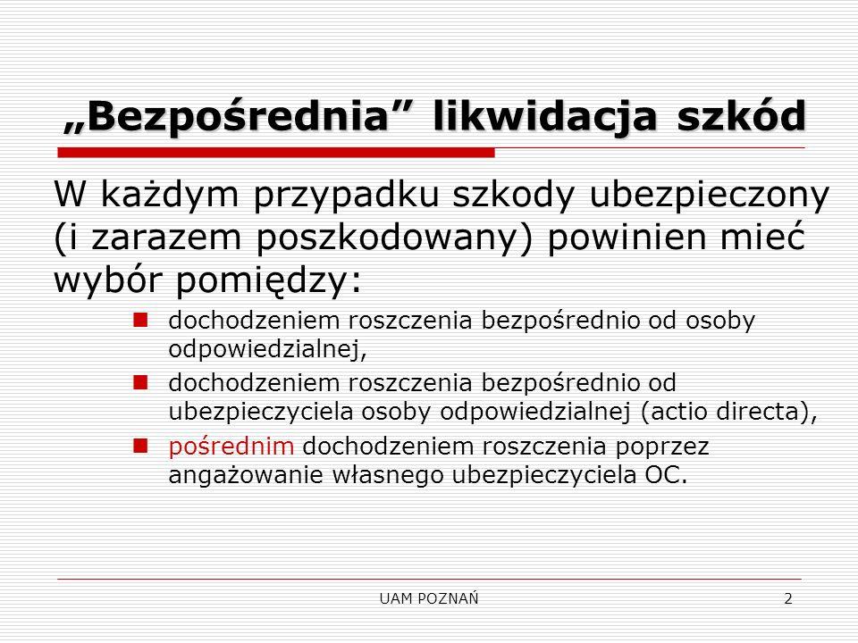 UAM POZNAŃ3 Uzależnienie zawarcia umowy OC od klauzuli b.l.s.