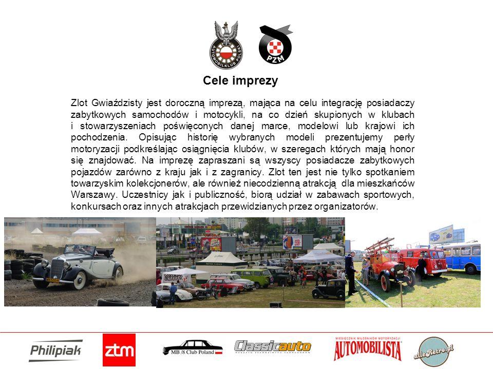 Cele imprezy Zlot Gwiaździsty jest doroczną imprezą, mająca na celu integrację posiadaczy zabytkowych samochodów i motocykli, na co dzień skupionych w