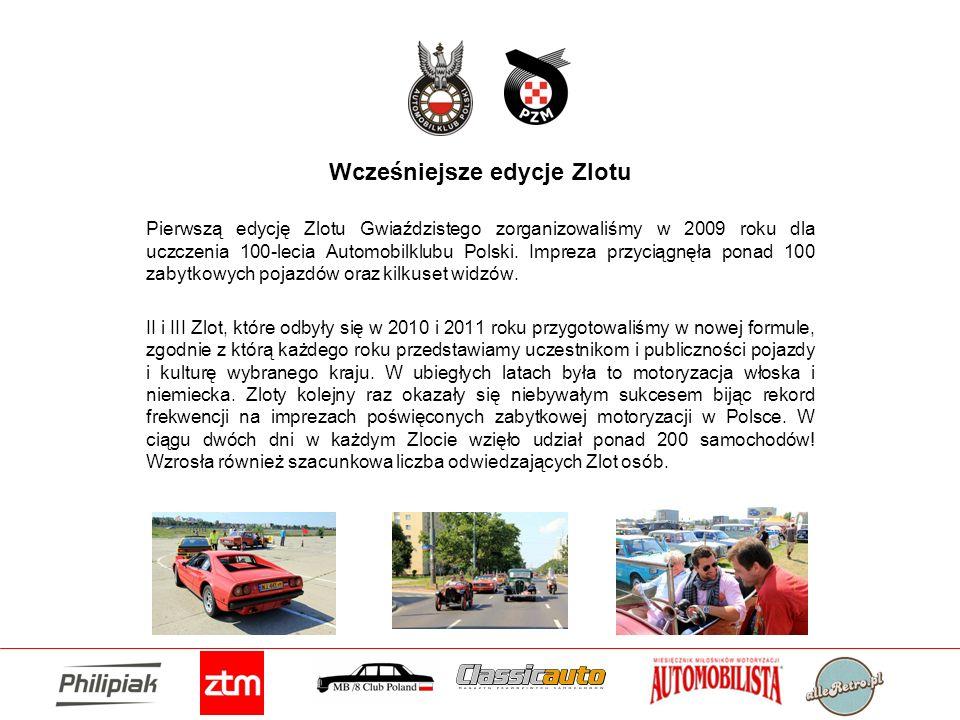Wcześniejsze edycje Zlotu Pierwszą edycję Zlotu Gwiaździstego zorganizowaliśmy w 2009 roku dla uczczenia 100-lecia Automobilklubu Polski. Impreza przy