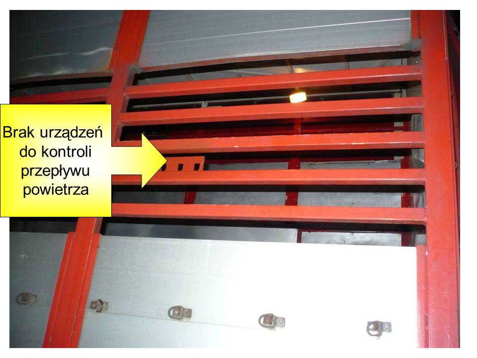 Brak urządzeń do kontroli przepływu powietrza