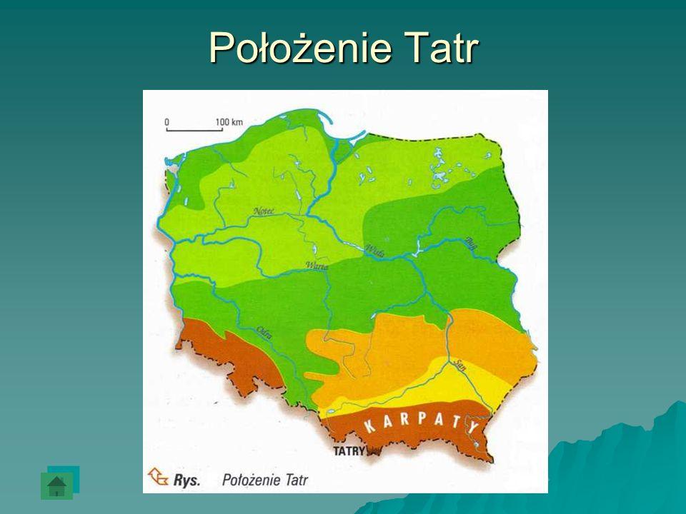 Położenie Tatr