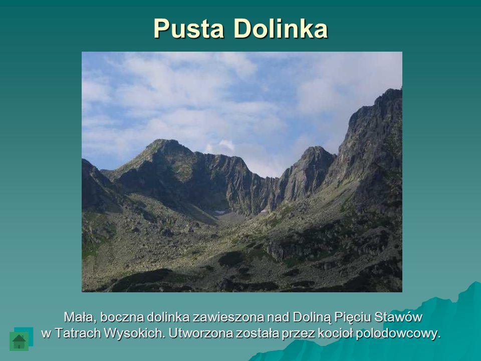 Pusta Dolinka Mała, boczna dolinka zawieszona nad Doliną Pięciu Stawów Mała, boczna dolinka zawieszona nad Doliną Pięciu Stawów w Tatrach Wysokich. Ut