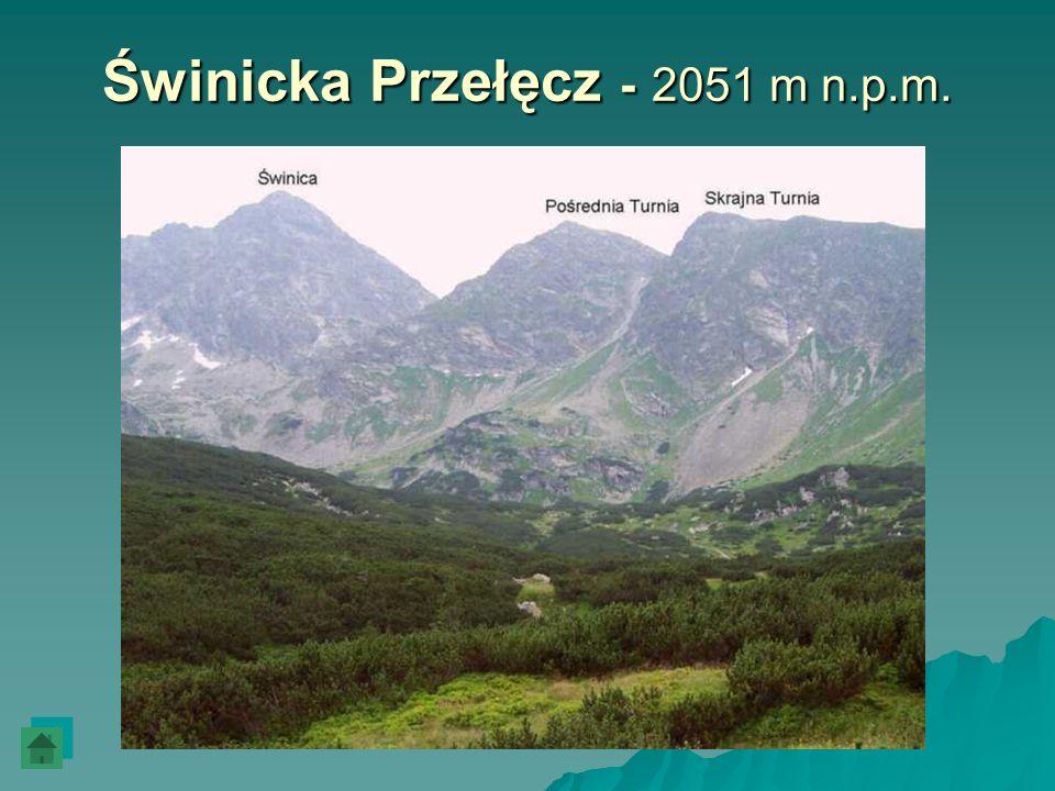Świnicka Przełęcz - 2051 m n.p.m.