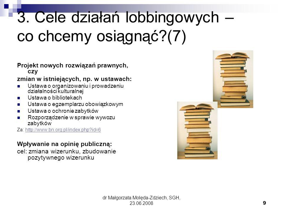 dr Małgorzata Molęda-Zdziech, SGH, 23.06.20089 3.