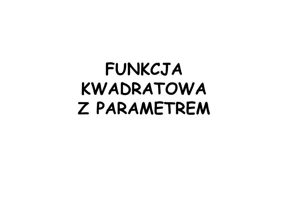 Ćw.3: Dla jakiej wartości parametru m funkcja kwadratowa f(x)=x 2 +(2-m)x+10 ma dwa różne ujemne miejsca zerowe.