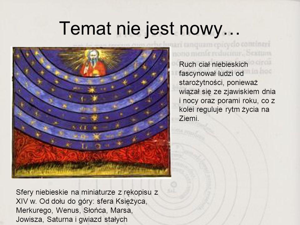 Tę sprawę uporządkował Kopernik… De revolutionibus orbium coelestium Czyli O obrotach ciał niebieskich Mikołaj Kopernik, rok wydania 1543