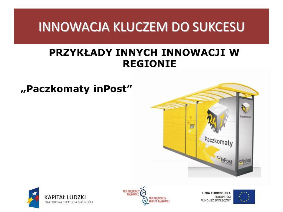 INNOWACJA KLUCZEM DO SUKCESU PRZYKŁADY INNYCH INNOWACJI W REGIONIE Łódź Paczkomaty inPost