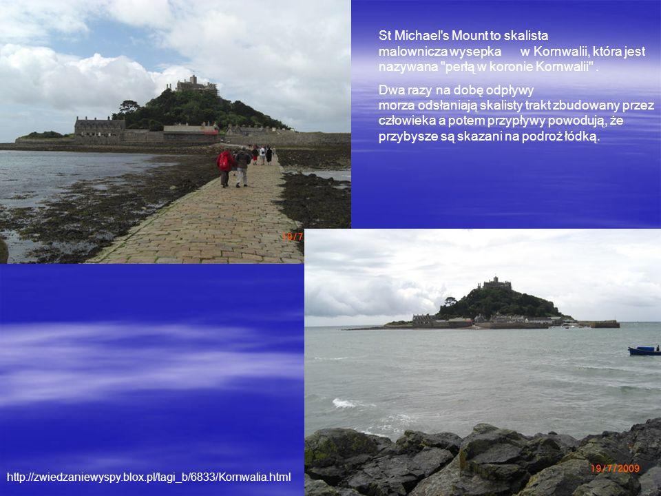 http://zwiedzaniewyspy.blox.pl/tagi_b/6833/Kornwalia.html St Michael's Mount to skalista malownicza wysepka w Kornwalii, która jest nazywana