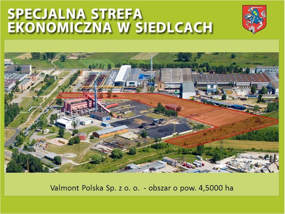 Valmont Polska Sp. z o. o. - obszar o pow. 4,5000 ha
