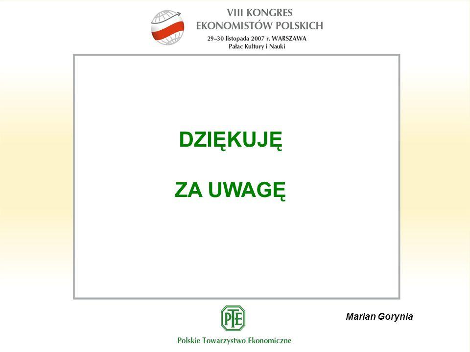 Marian Gorynia DZIĘKUJĘ ZA UWAGĘ