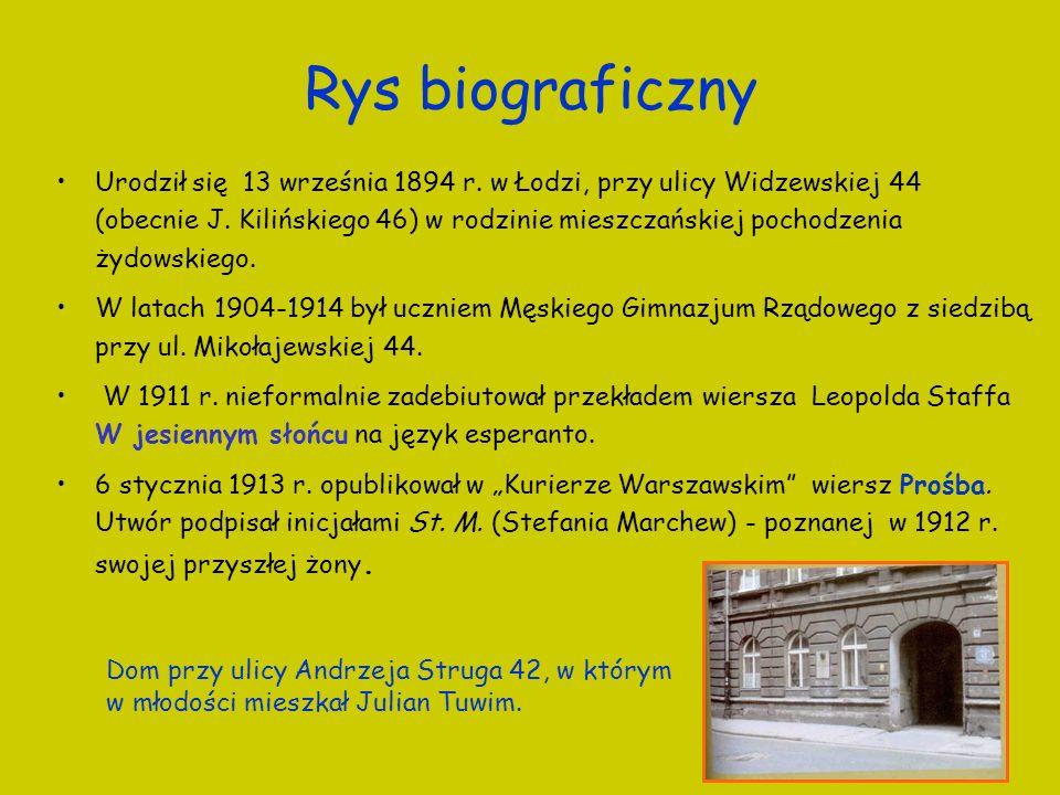 Rys biograficzny Urodził się 13 września 1894 r. w Łodzi, przy ulicy Widzewskiej 44 (obecnie J. Kilińskiego 46) w rodzinie mieszczańskiej pochodzenia