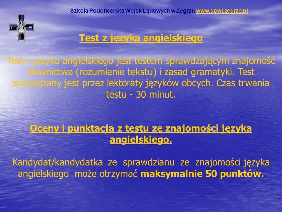 Test z języka angielskiego Test z języka angielskiego jest testem sprawdzającym znajomość słownictwa (rozumienie tekstu) i zasad gramatyki. Test spraw