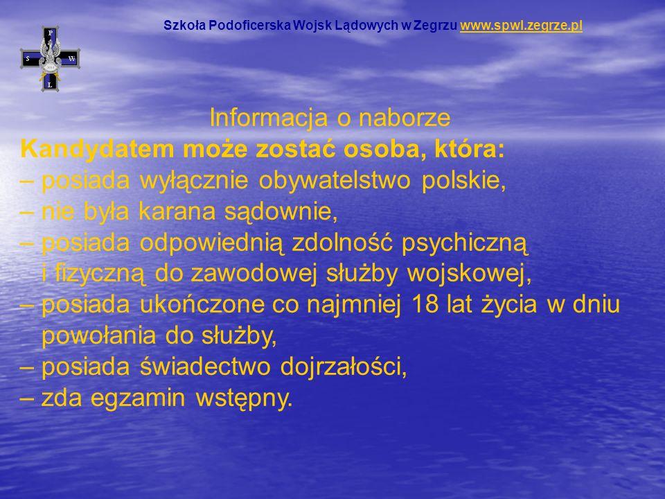 Informacja o naborze Kandydatem może zostać osoba, która: – posiada wyłącznie obywatelstwo polskie, – nie była karana sądownie, – posiada odpowiednią