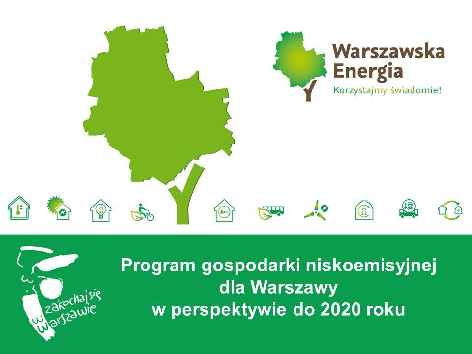 Plan Działań na rzecz zrównoważonego zużycia energii w Warszawie w perspektywie do 2020 roku narzędziem do wdrażania gospodarki niskoemisyjnej w Warszawie Inicjatywa Porozumienie Burmistrzów Warszawa przystąpiła w 2009 roku Kluczowy dokument: Plan działań na rzecz zrównoważonego zużycia energii dla Warszawy w perspektywie do 2020 roku