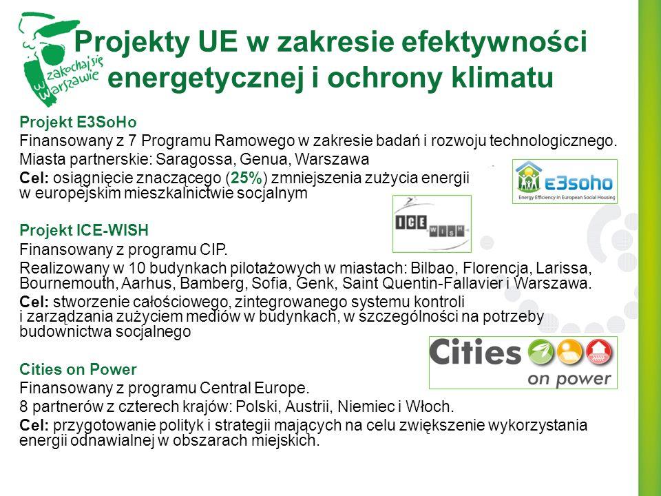 Projekty UE w zakresie efektywności energetycznej i ochrony klimatu Projekt E3SoHo Finansowany z 7 Programu Ramowego w zakresie badań i rozwoju techno