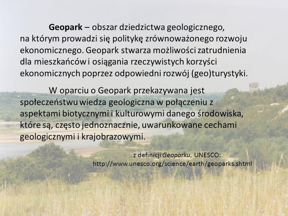 Geopark – obszar dziedzictwa geologicznego, na którym prowadzi się politykę zrównoważonego rozwoju ekonomicznego. Geopark stwarza możliwości zatrudnie