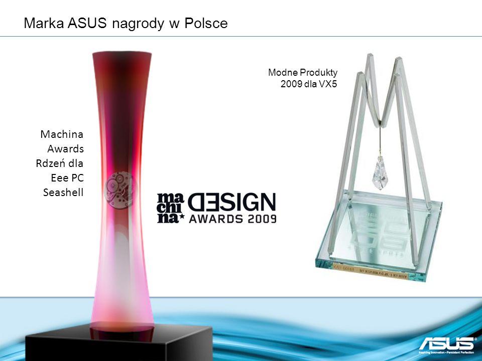 Machina Awards Rdzeń dla Eee PC Seashell Modne Produkty 2009 dla VX5 Marka ASUS nagrody w Polsce