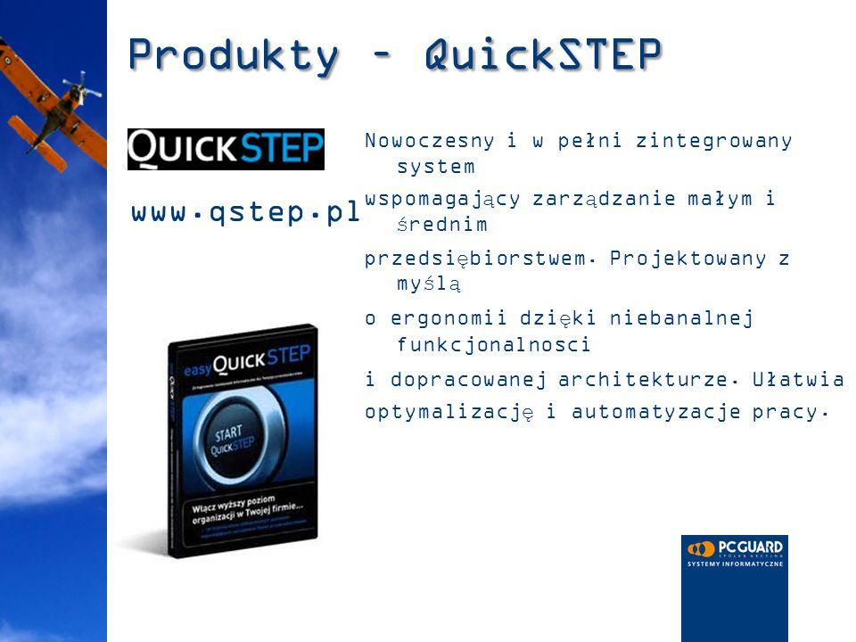Produkty – QuickSTEP Nowoczesny i w pełni zintegrowany system wspomagający zarządzanie małym i średnim przedsiębiorstwem. Projektowany z myślą o ergon