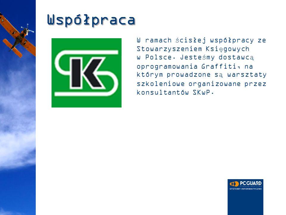 Współpraca W ramach ścisłej współpracy ze Stowarzyszeniem Księgowych w Polsce. Jesteśmy dostawcą oprogramowania Graffiti, na którym prowadzone są wars
