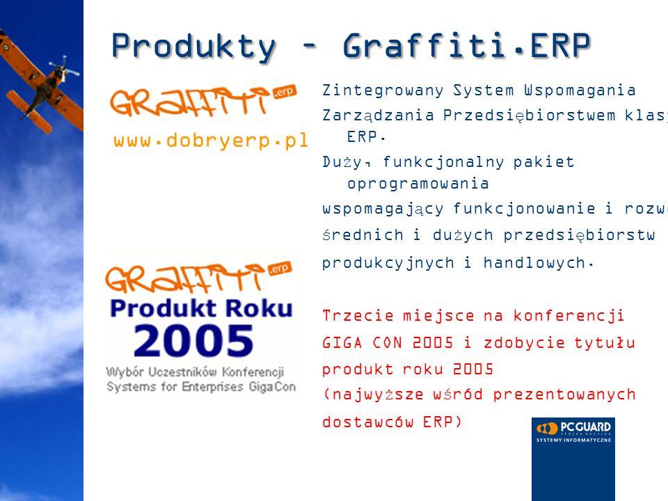 Produkty – Graffiti.ERP Zintegrowany System Wspomagania Zarządzania Przedsiębiorstwem klasy ERP. Duży, funkcjonalny pakiet oprogramowania wspomagający