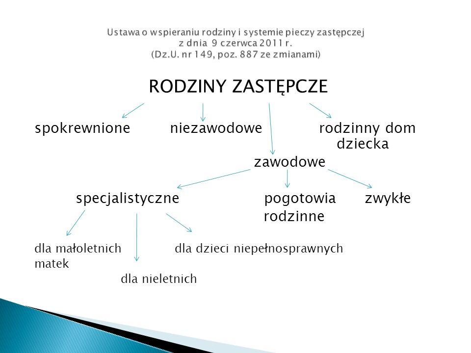 Nowe zadania powiatu 1.Awans rodzin niezawodowych na zawodowe.