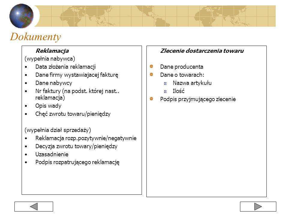 Reklamacja (wypełnia nabywca) Data złożenia reklamacji Dane firmy wystawiajacej fakturę Dane nabywcy Nr faktury (na podst. której nast.. reklamacja) O