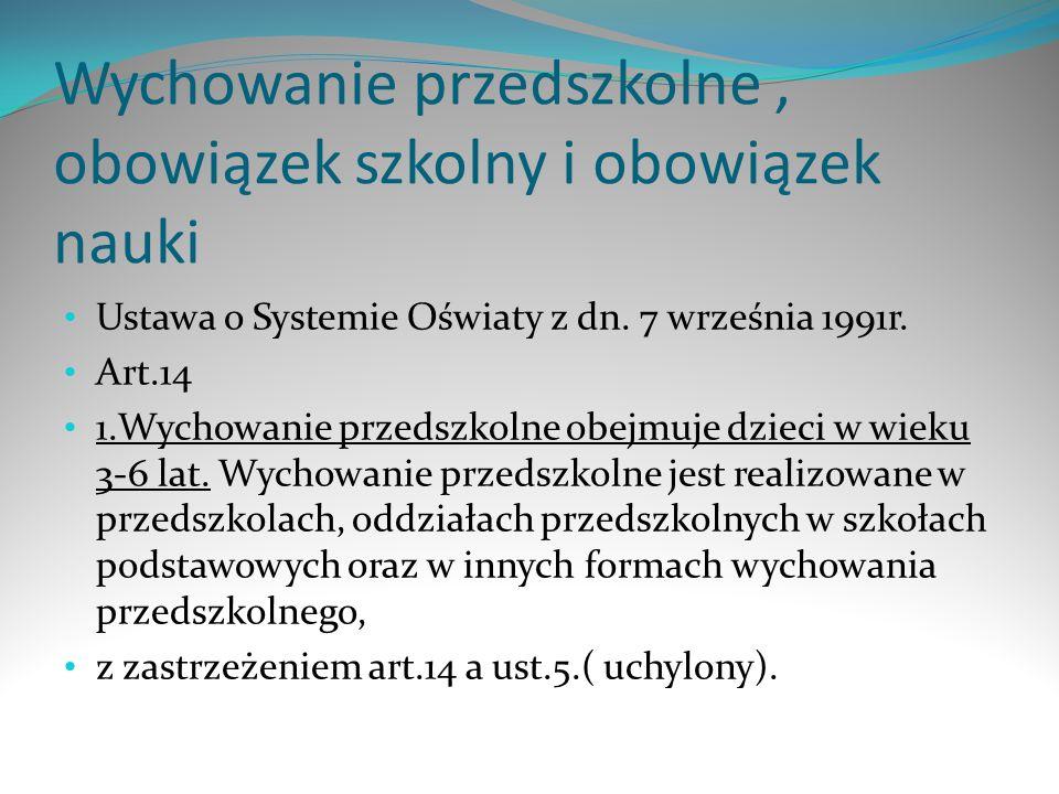 Wychowanie przedszkolne i obowiązek szkolny cz.2 1 a.
